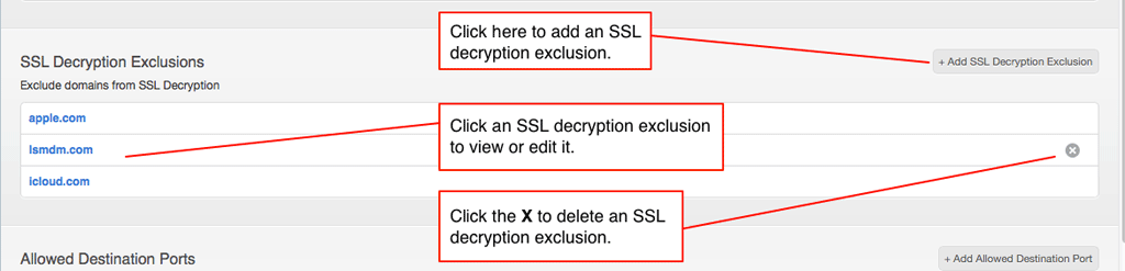 SLL Decryption Exclusion