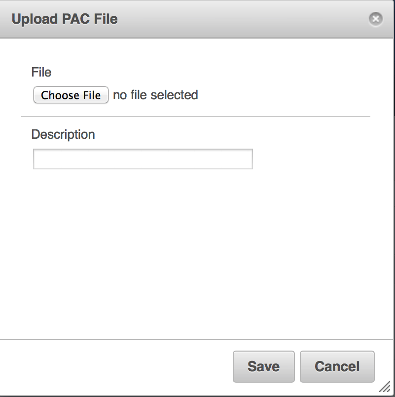 Upload New PAC File