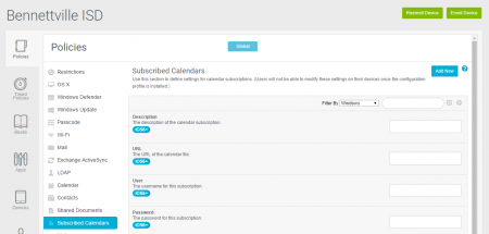 Subscribed Calendars