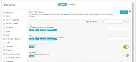 Web Shortcuts