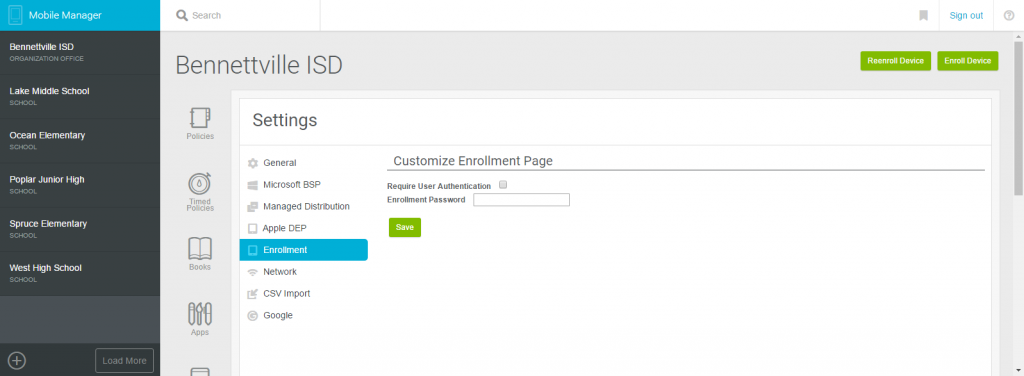 Authentication Enrollment