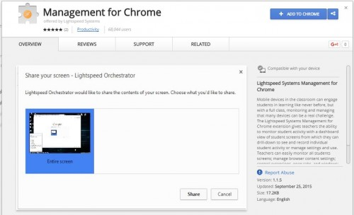 Store-Management for Chrome