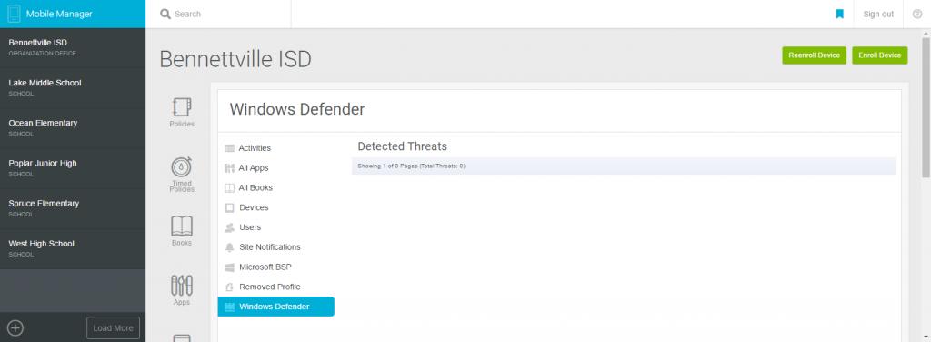 Windows Defender Report