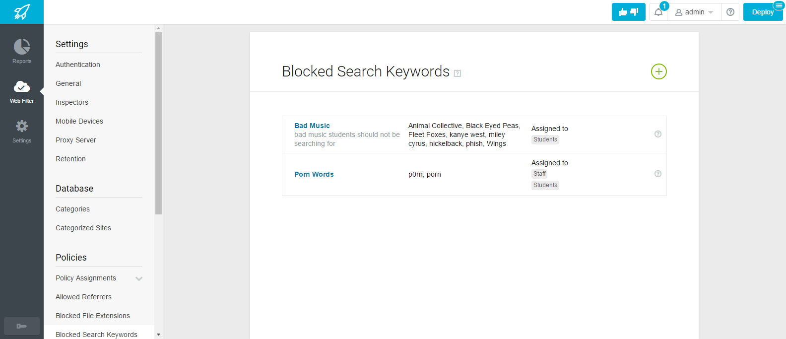 Blocked Search Keywords Basics | Lightspeed Systems Community Site