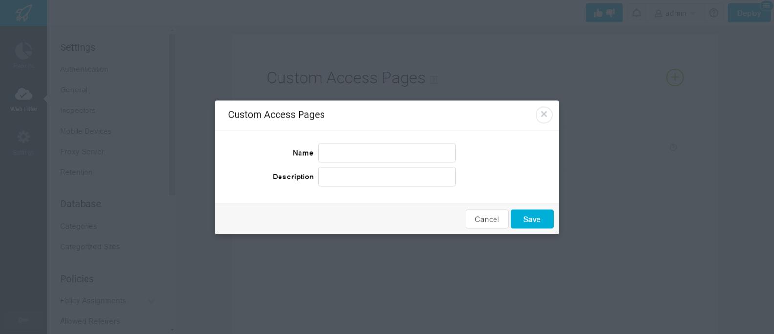 Lightspeed Systems, Inc  Adding a Custom Access Page