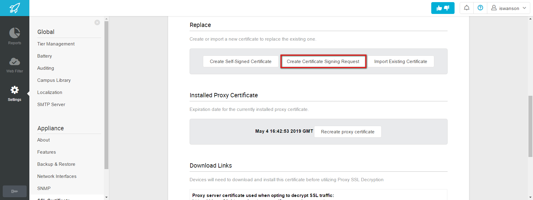 Web filter comprehensive settings appliance ssl certificate create a certificate signing request create self request 1betcityfo Images