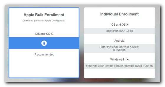 Enrolling Devices to be Managed with Launch Mobile Manager
