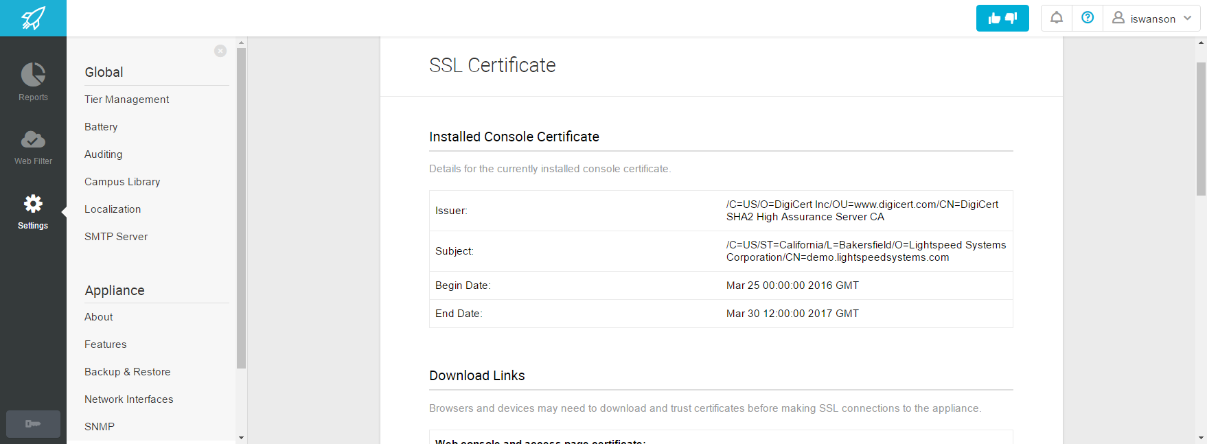 Ssl Certificate Lightspeed Systems Community Site