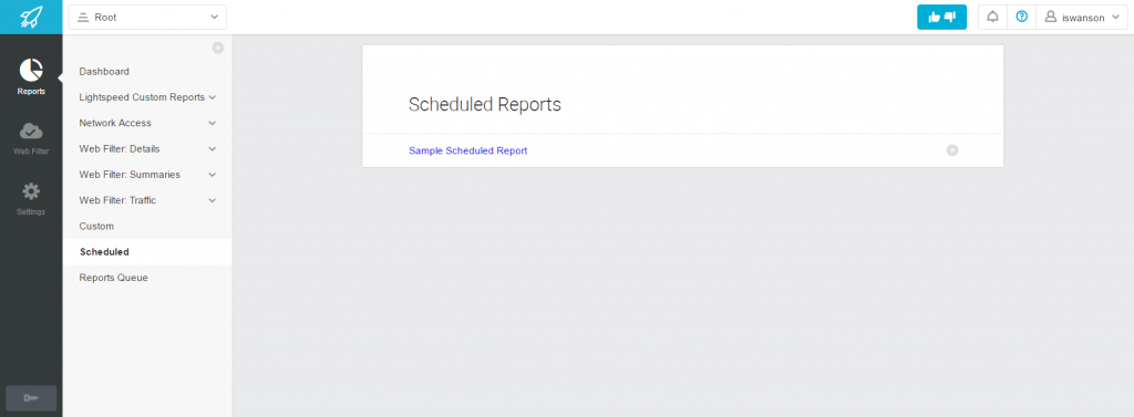 Scheduling a Report