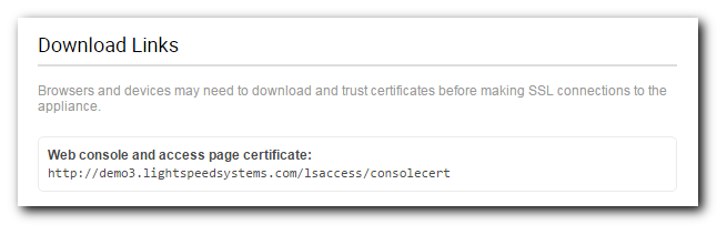 SSL Certificate - Lightspeed Systems Community Site