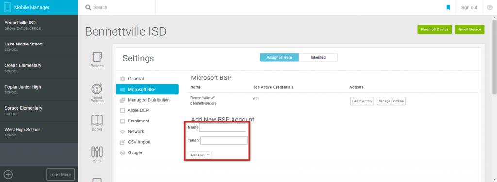 Microsoft BSP