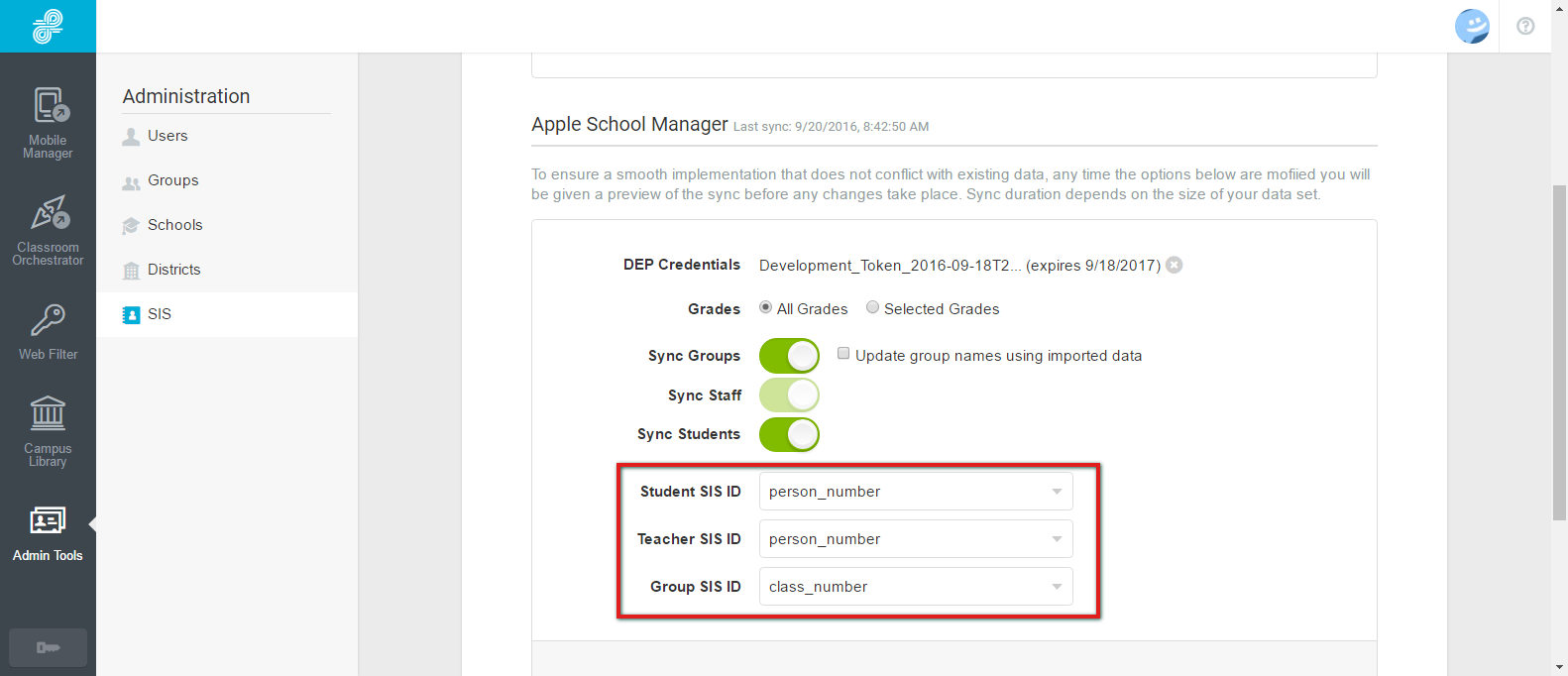Setup Mobile Manager to Work with Apple School - Lightspeed Systems