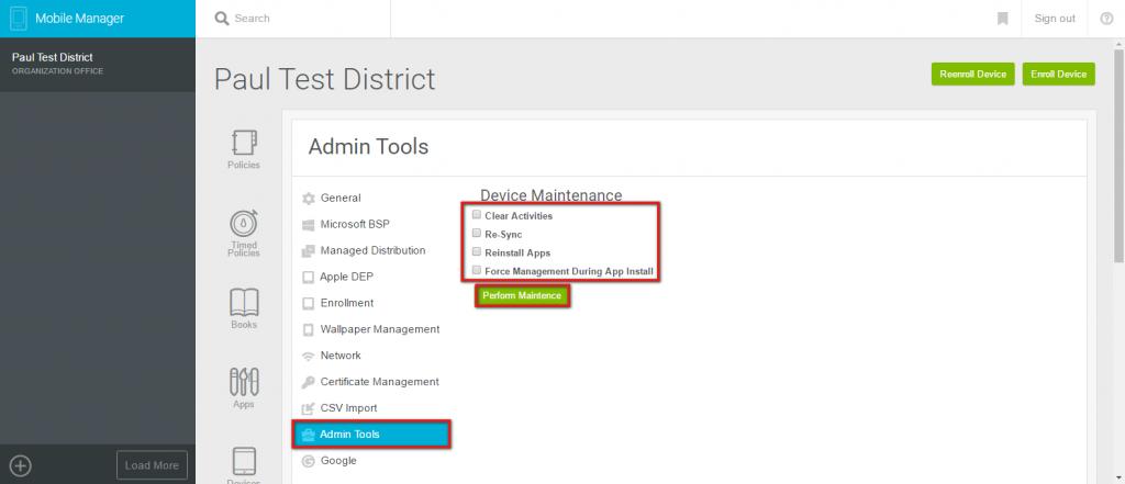 Admin Tools Lightspeed Systems Community Site