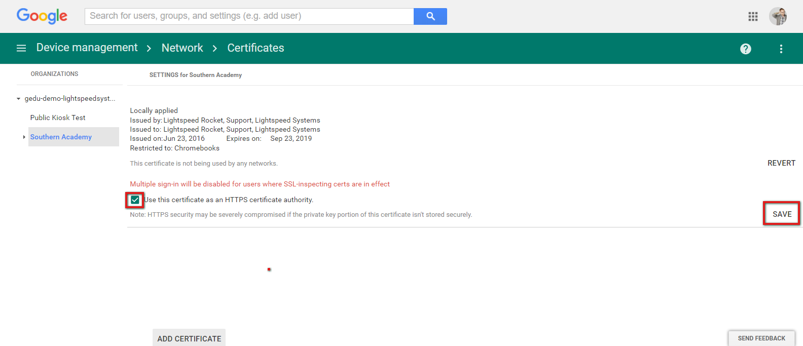 Pushing ssl certificates to chromebooks through gafe lightspeed 13 xflitez Choice Image