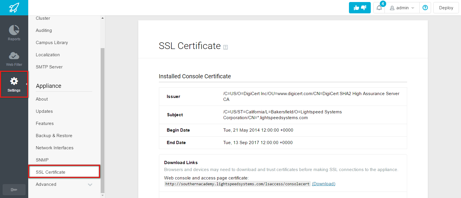Pushing SSL Certificates to Chromebooks through GAFE - Lightspeed