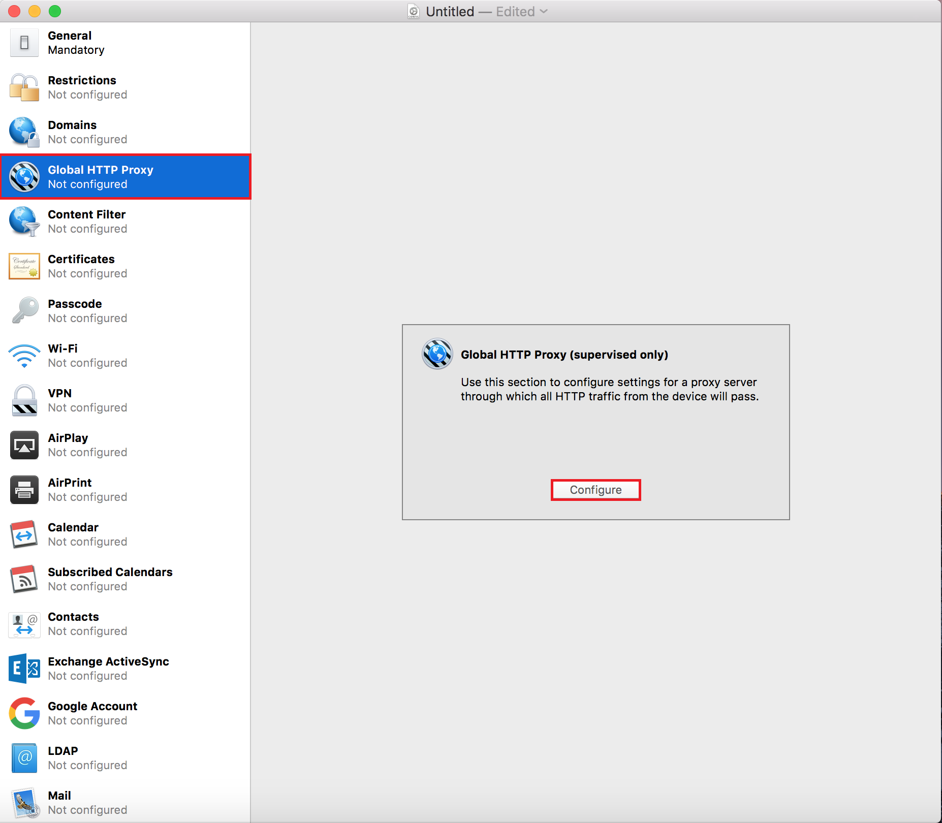 Pushing SSL Certificates Using Apple Configurator 2