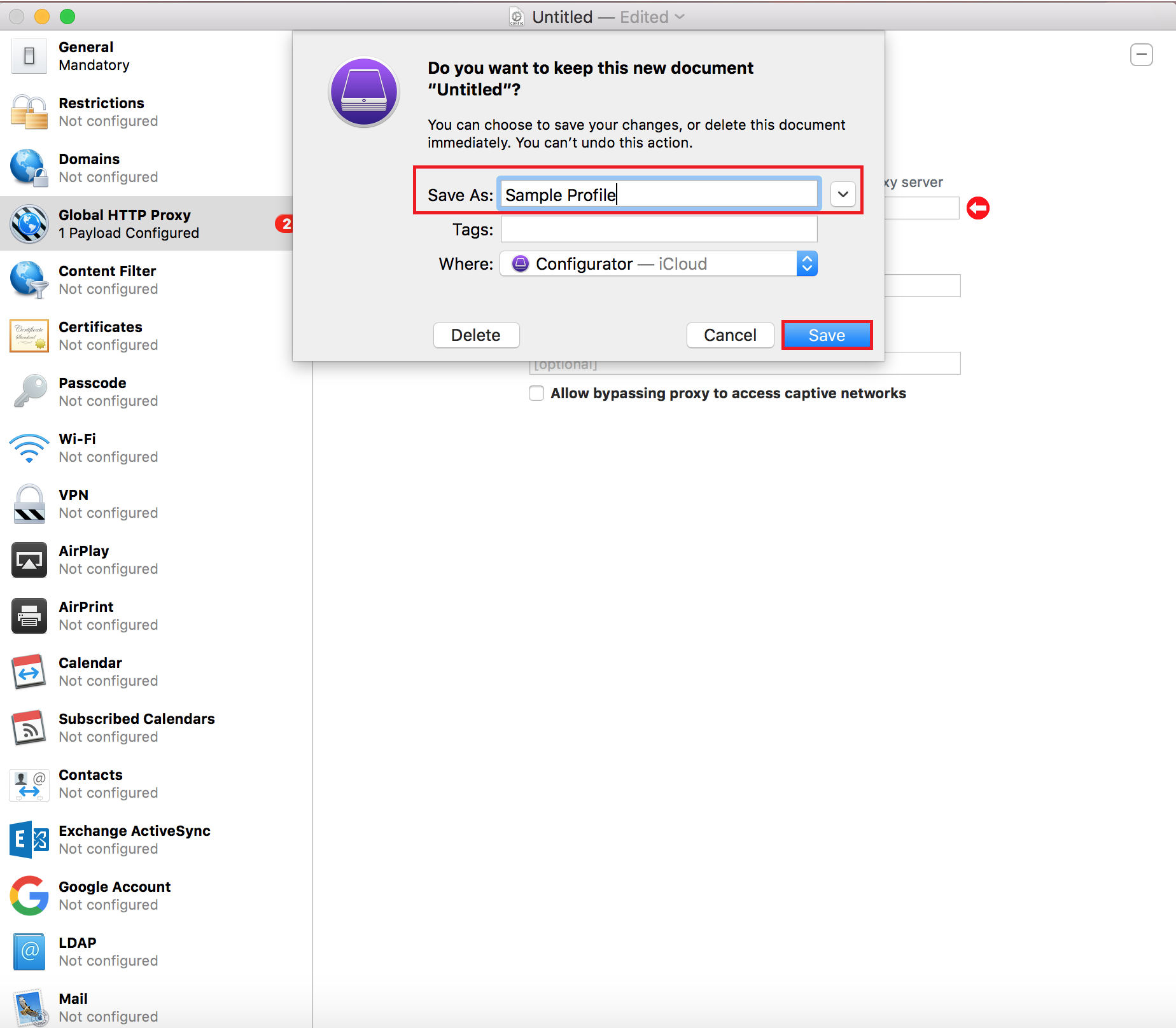Pushing SSL Certificates Using Apple Configurator 2 - Lightspeed