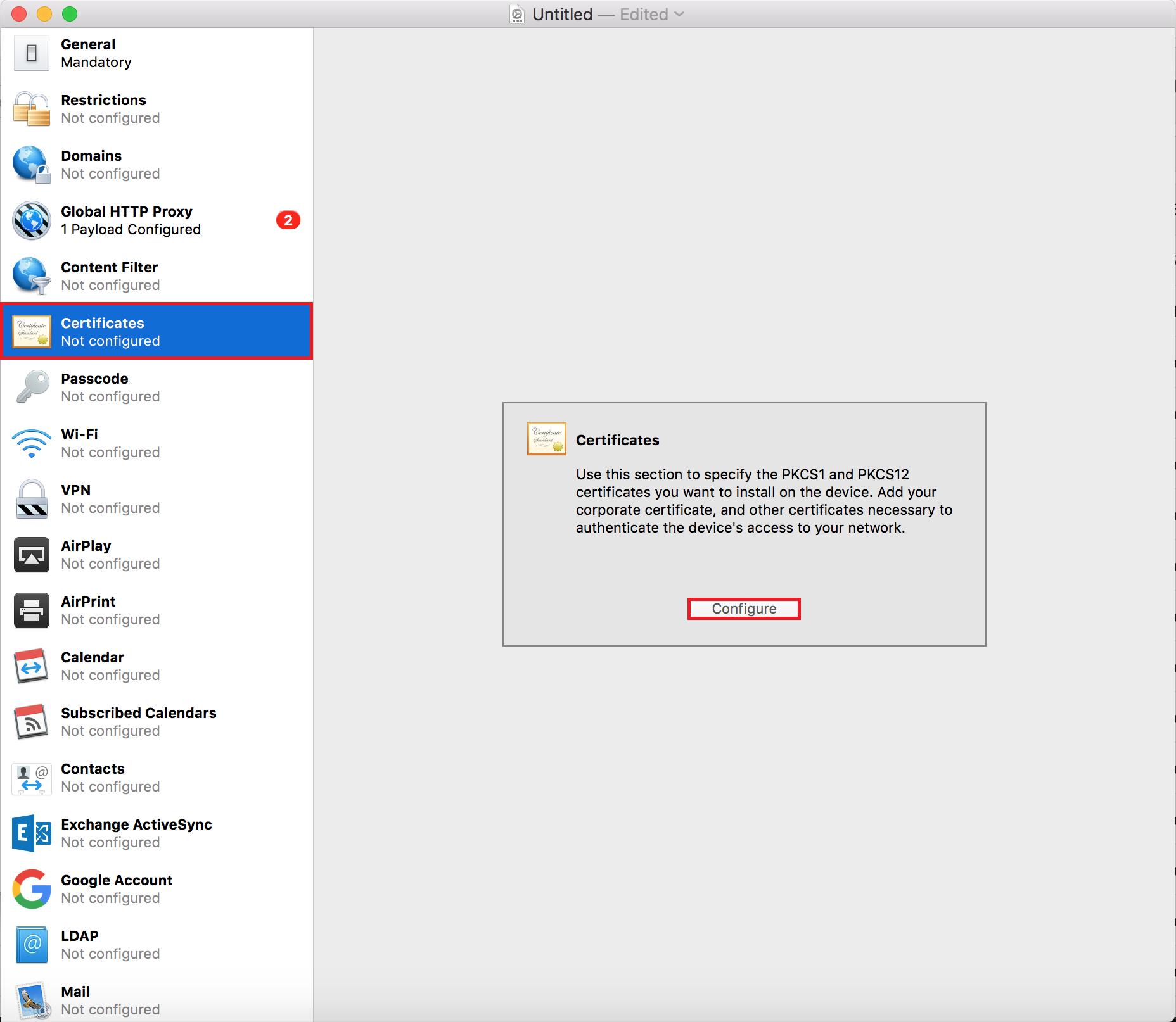 Pushing SSL Certificates Using Apple Configurator 2 - Lightspeed
