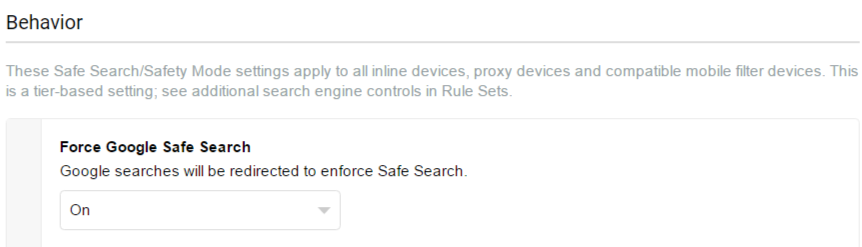 Forcing Google Safe Search - Lightspeed Systems Community Site