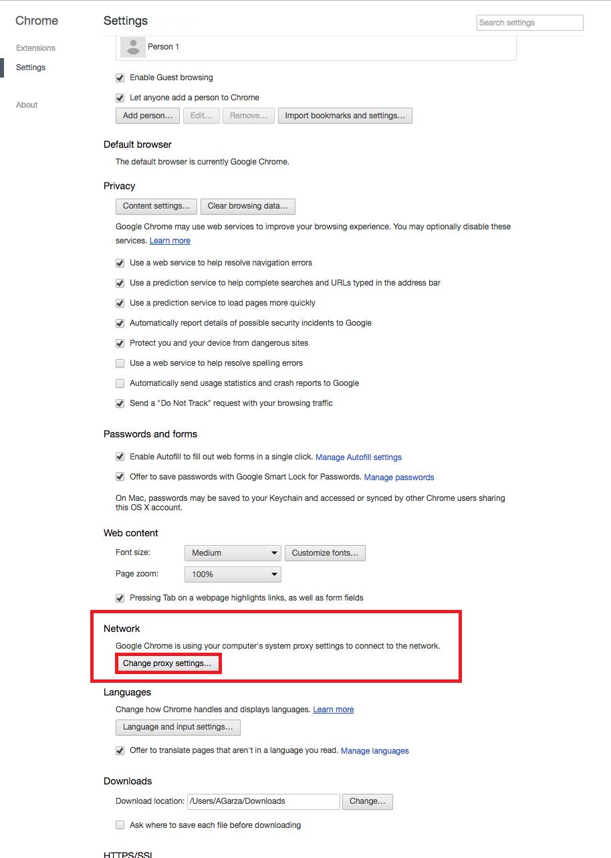 Manually Verify Proxy - OSX - Lightspeed Systems Community Site