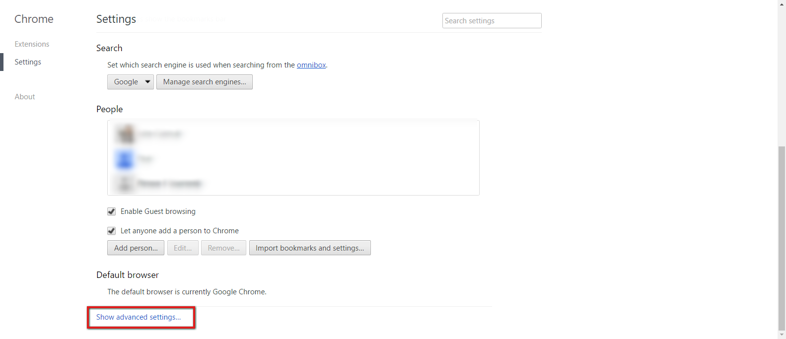 Manually Verify Proxy - Chrome (Windows) - Lightspeed