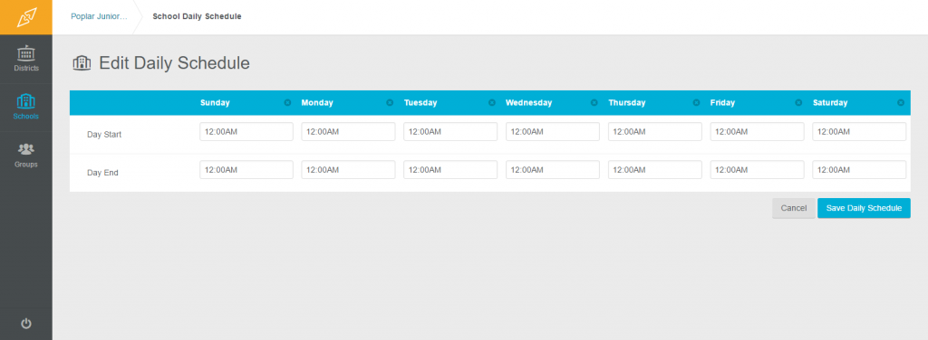 Viewing and Editring Schedules3