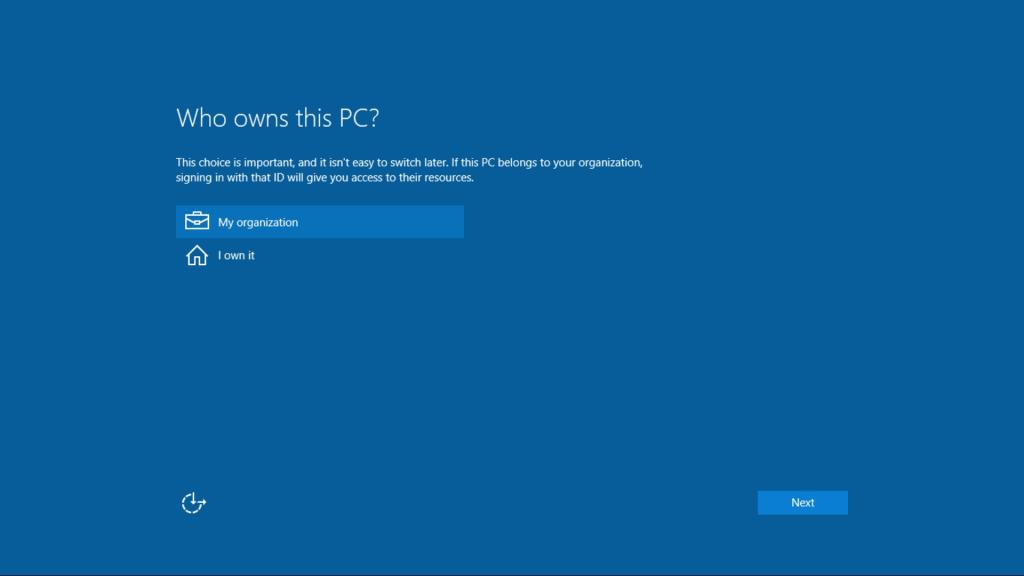 Windows10-OOBE Screenshot 5