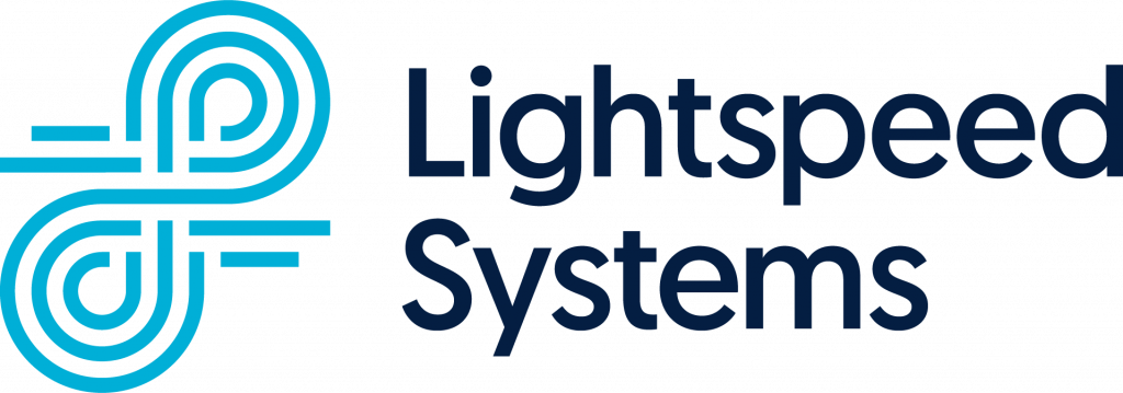 Lightspeed Systems blue and navy logo
