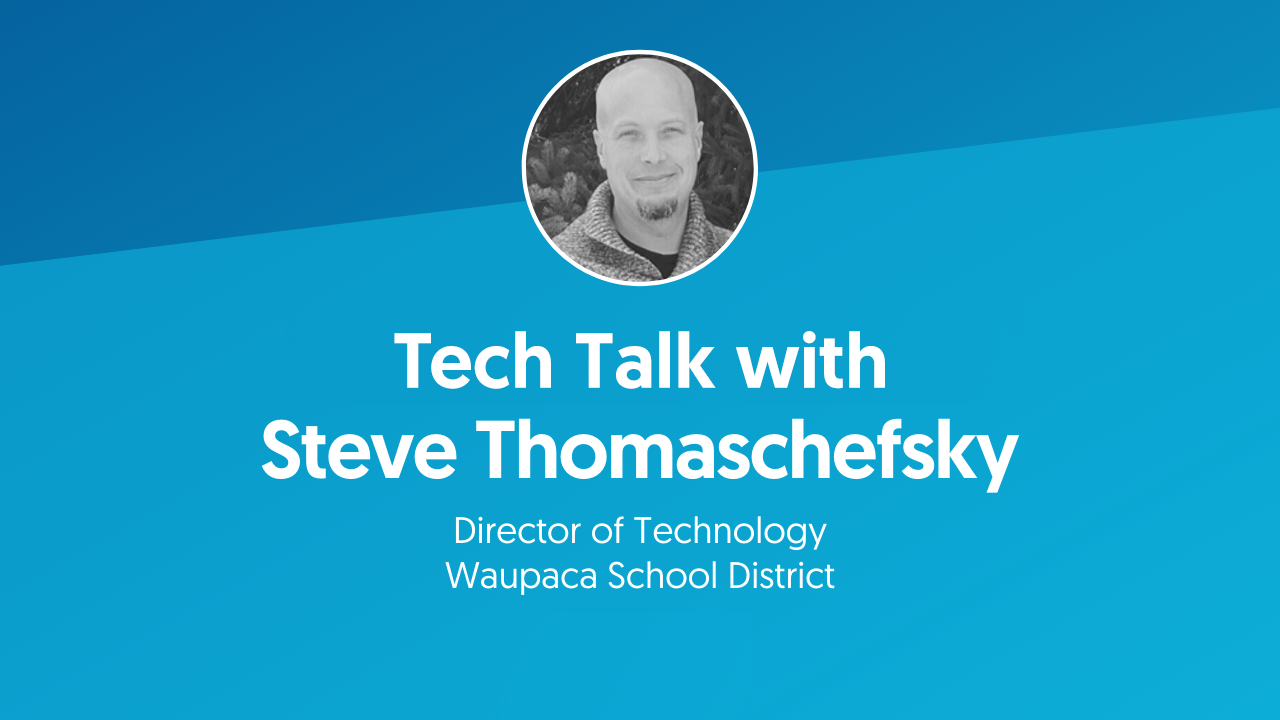 Tech Talk with Steve Thomaschefsky Video title Screen