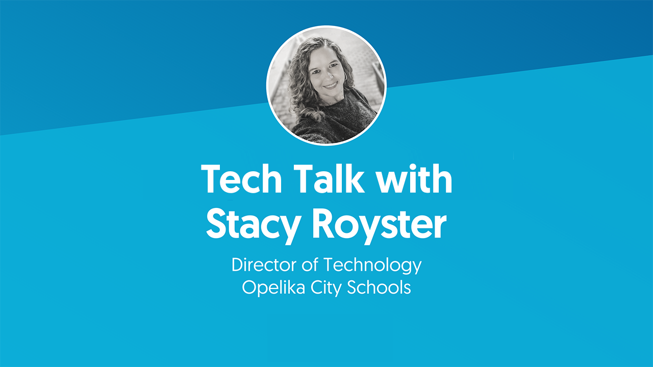 Tech Talk with Stacy Royster Title Screen graphic