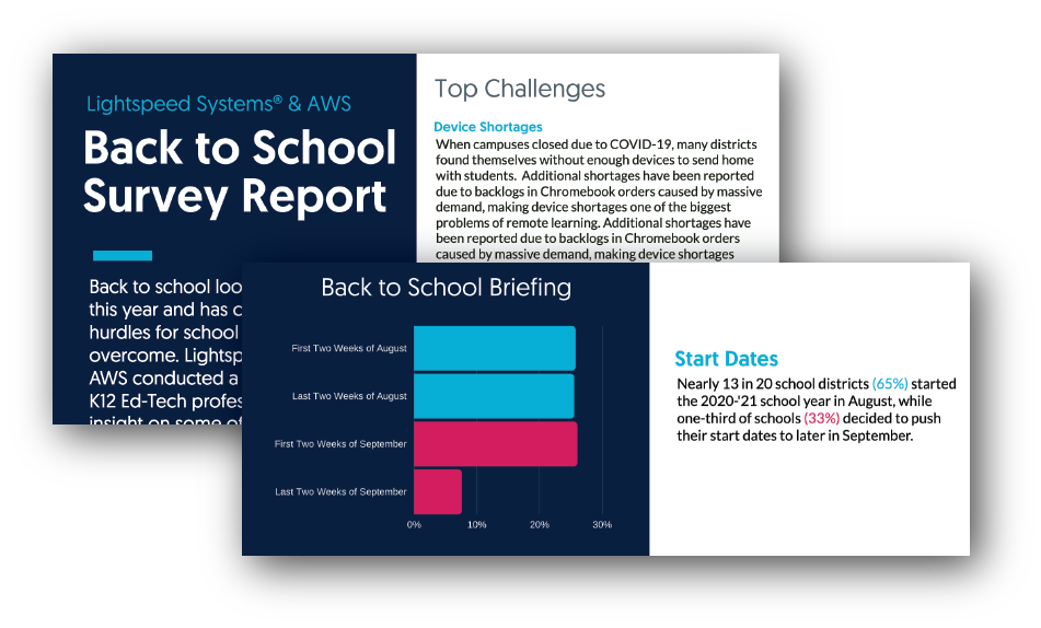 AWS and Lightspeed Systems back to school survey report cover